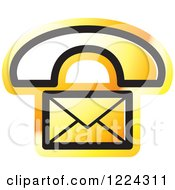 Clipart Of An Orange Contact Icon Royalty Free Vector Illustration by Lal Perera