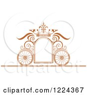 Brown Ornate Wedding Carriage And Crown Frame