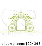 Green Ornate Wedding Carriage And Crown Frame