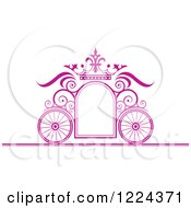 Purple Ornate Wedding Carriage And Crown Frame