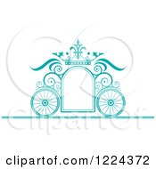 Turquoise Ornate Wedding Carriage And Crown Frame