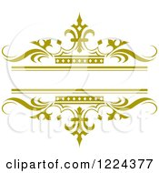 Clipart Of A Golden Crown And Wave Wedding Frame Royalty Free Vector Illustration