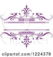 Purple Crown And Wave Wedding Frame