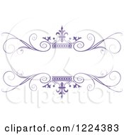 Purple Crown And Flourish Wedding Frame