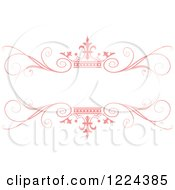 Clipart Of A Pastel Pink Crown And Flourish Wedding Frame Royalty Free Vector Illustration