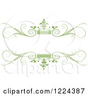 Clipart Of A Green Crown And Flourish Wedding Frame Royalty Free Vector Illustration by Lal Perera