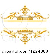 Clipart Of An Orange Crown And Wave Wedding Frame Royalty Free Vector Illustration by Lal Perera