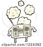 Clipart Of A Boom Box With Dust Royalty Free Vector Illustration