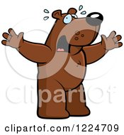 Clipart Of A Panicking Bear Royalty Free Vector Illustration