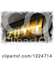 Clipart Of A 3d Counter Display At Year 2014 Royalty Free Illustration by MacX