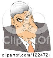 Clipart Of A Caricature Of Robert Mueller Royalty Free Illustration by djart