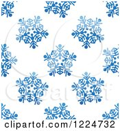 Clipart Of A Seamless Pattern Background Of Blue Snowflakes 6 Royalty Free Vector Illustration