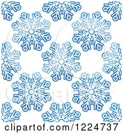 Clipart Of A Seamless Pattern Background Of Blue Snowflakes 9 Royalty Free Vector Illustration