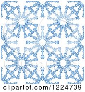Clipart Of A Seamless Pattern Background Of Blue Snowflakes 4 Royalty Free Vector Illustration by Vector Tradition SM
