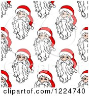 Clipart Of A Seamless Pattern Background Of Santas 6 Royalty Free Vector Illustration
