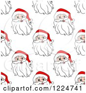 Clipart Of A Seamless Pattern Background Of Santas 5 Royalty Free Vector Illustration