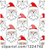 Clipart Of A Seamless Pattern Background Of Santas 9 Royalty Free Vector Illustration