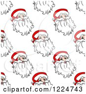 Clipart Of A Seamless Pattern Background Of Santas 7 Royalty Free Vector Illustration