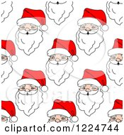Clipart Of A Seamless Pattern Background Of Santas 8 Royalty Free Vector Illustration
