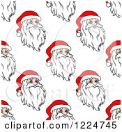 Clipart Of A Seamless Pattern Background Of Santas 4 Royalty Free Vector Illustration by Vector Tradition SM