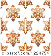 Clipart Of A Seamless Background Pattern Of Snowflake Shaped Christmas Gingerbread Cookies Royalty Free Vector Illustration by Vector Tradition SM