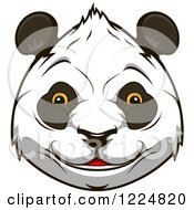 Clipart Of A Happy Giant Panda Face 3 Royalty Free Vector Illustration by Vector Tradition SM