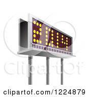 Clipart Of A 3d Illuminated 2014 New Year Billboard Royalty Free Illustration by patrimonio