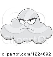 Clipart Of A Grumpy Cloud Mascot Royalty Free Vector Illustration by Hit Toon