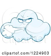 Clipart Of A Wind Storm Cloud Blowing Royalty Free Vector Illustration