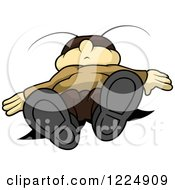 Clipart Of A Passed Out Cricket Royalty Free Vector Illustration