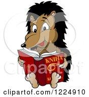 Hedgehog Reading A Kniha Book