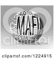 Clipart Of A 3d Mafia Word Collage Sphere On Gray Royalty Free Illustration by MacX