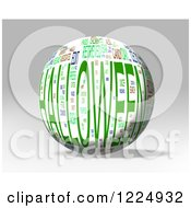 Clipart Of A 3d Halloween Word Collage Sphere On Gray Royalty Free Illustration