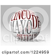 Clipart Of A 3d Cinco De Mayo Word Collage Sphere On Gray Royalty Free Illustration