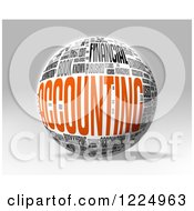 Clipart Of A 3d Accounting Word Collage Sphere On Gray Royalty Free Illustration
