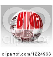 Clipart Of A 3d Bingo Word Collage Sphere On Gray Royalty Free Illustration