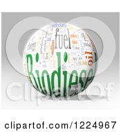 Clipart Of A 3d Biodiesel Word Collage Sphere On Gray Royalty Free Illustration