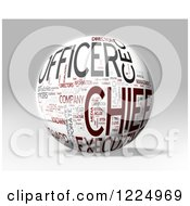 Clipart Of A 3d Chief Word Collage Sphere On Gray Royalty Free Illustration