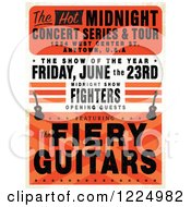 Distressed Guitar Concert Poster With Sample Text