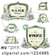 Clipart Of Vintage Money Badges And Design Elements 2 Royalty Free Vector Illustration