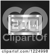 Clipart Of A 3d Metal New Year 2014 Plaque Royalty Free Vector Illustration