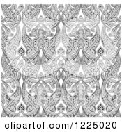 Ornate Gray Seamless Art Nouveau Pattern Background