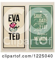 Vintage Save The Date With A Pink Tulip And Sample Text
