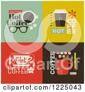 Clipart Of Cot Coffee Designs Royalty Free Vector Illustration by elena