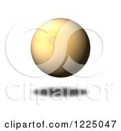 Clipart Of A 3d Floating Vintage Paper Sphere Royalty Free Illustration