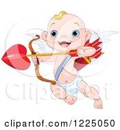 Cute Baby Cupid Aiming Loves Arrow