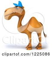 Clipart Of A 3d Camel Mascot Wearing A Baseball Cap And Facing Left 2 Royalty Free Vector Illustration