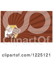 Clipart Of A Retro Apiarist Beekeeper With A Smoker Background Or Business Card Design Royalty Free Illustration