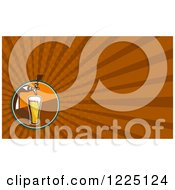 Clipart Of A Retro Beer Tap Background Or Business Card Design Royalty Free Illustration