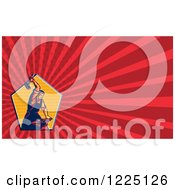Clipart Of A Retro Blacksmith Background Or Business Card Design Royalty Free Illustration